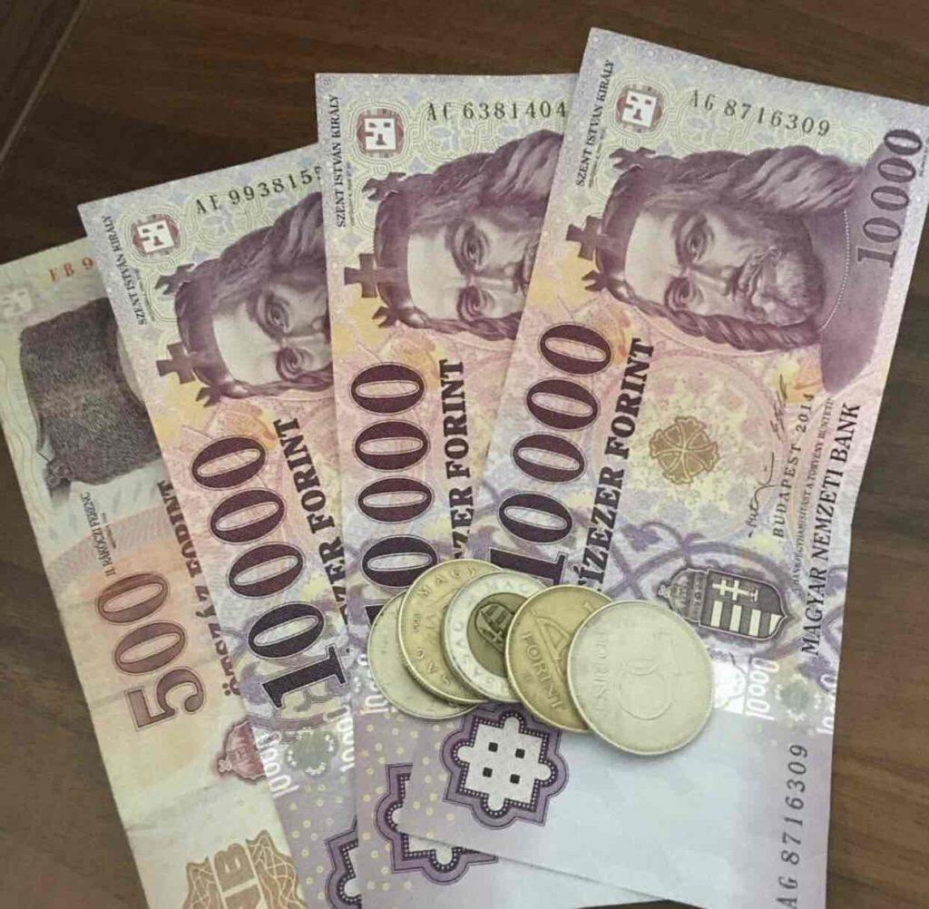 Το φιορίνι (HUF) είναι το τοπικό νόμισμα της Ουγγαρίας
